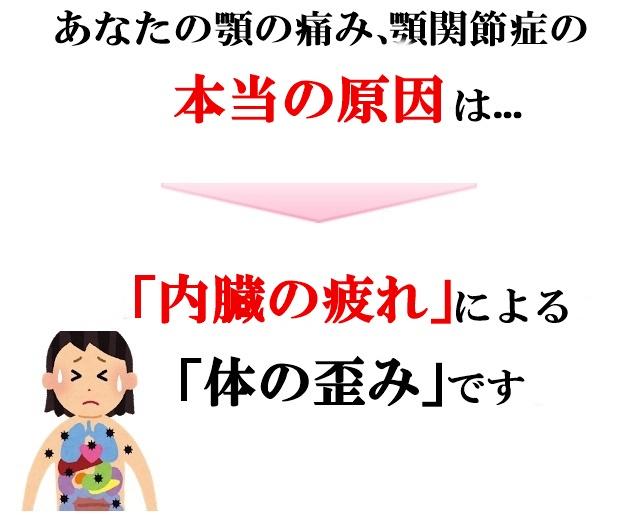 顎の痛みは「内臓の疲労」から起こる「体の歪み」が原因