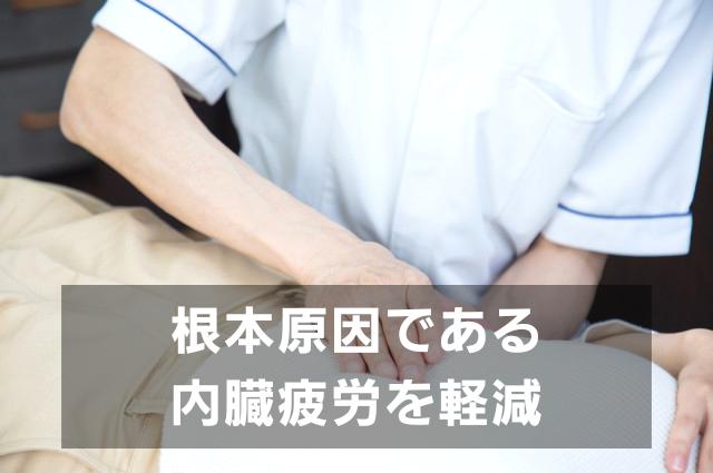 ①内臓を含む体全体への検査と施術