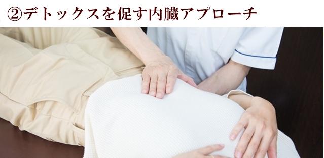 ②デトックスを促す内臓アプローチ